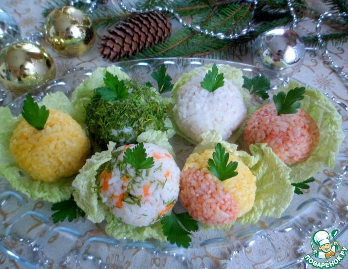 Рецепт: Закуска Новогодние шары