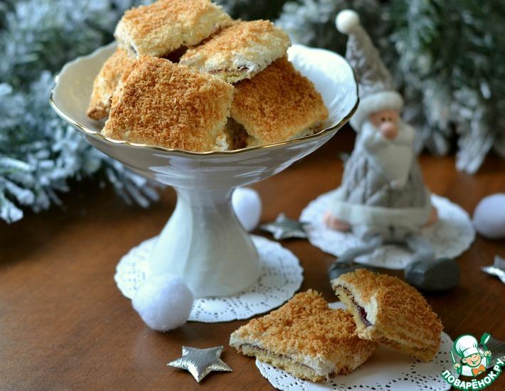 Рецепт: Кокосовое печенье