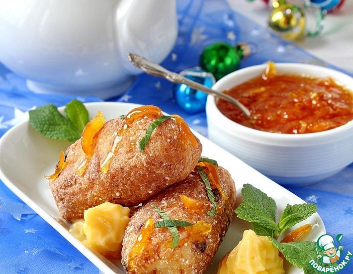 Рецепт: Молотес с кремом и апельсиновым мармеладом