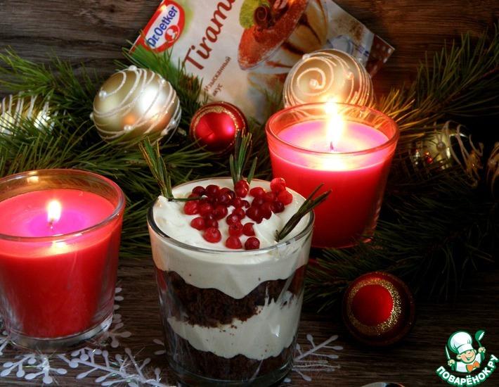 Рецепт: Нежный трайфл «Шоколад-тирамису»