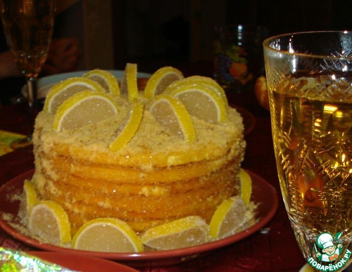 Рецепт: Постный апельсиновый торт