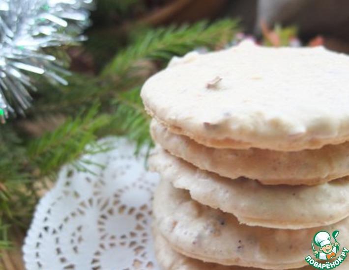 Рецепт: Хрустящее ореховое печенье