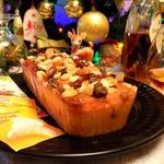 Рождественский кекс в малиновом желе
