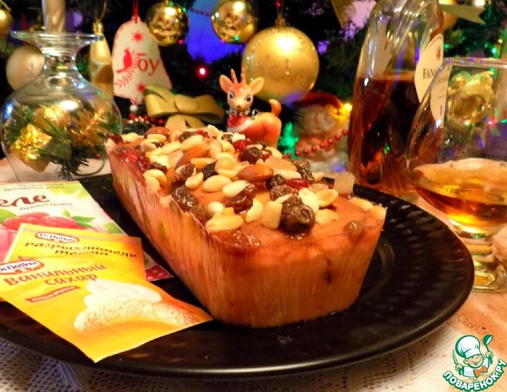 Рецепт: Рождественский кекс в малиновом желе