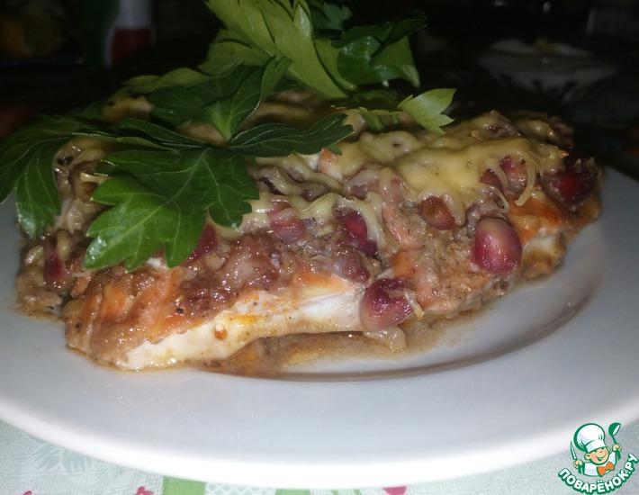 Рецепт: Гранатово-ореховая семга