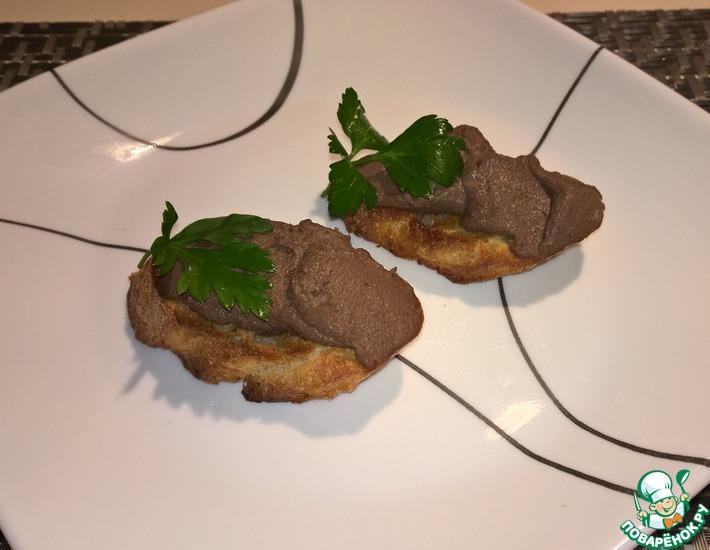 Рецепт: Кростини с паштетом по-тоскански