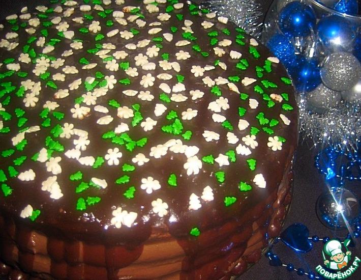 Рецепт: Торт Новогоднее настроение
