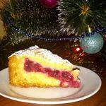 Медовый пирог с брусникой Зимний вечер
