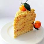 Торт Наполеон со вкусом крем-брюле