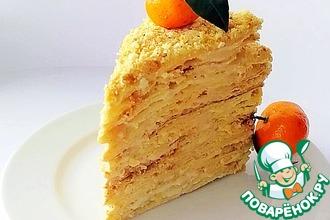 Рецепт: Торт Наполеон со вкусом крем-брюле