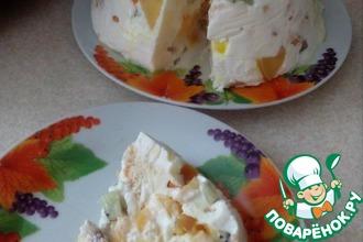 Рецепт: Заливной сметанный торт с фруктами