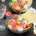 Овощной салат с форелью Романтический ужин