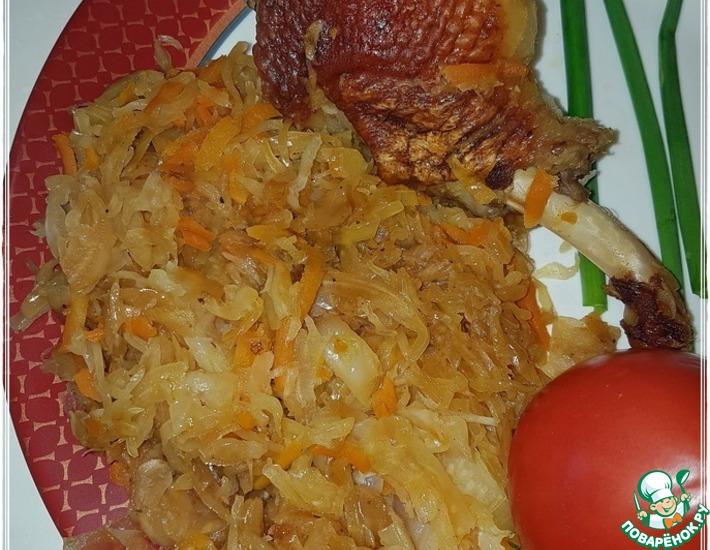 Рецепт: Утка с капустой Солянка такая