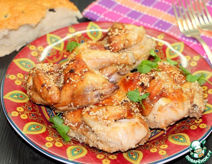 Рецепт: Запеченная курица Восточная красавица