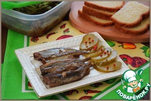 Sprats home of capelin in the slow cooker