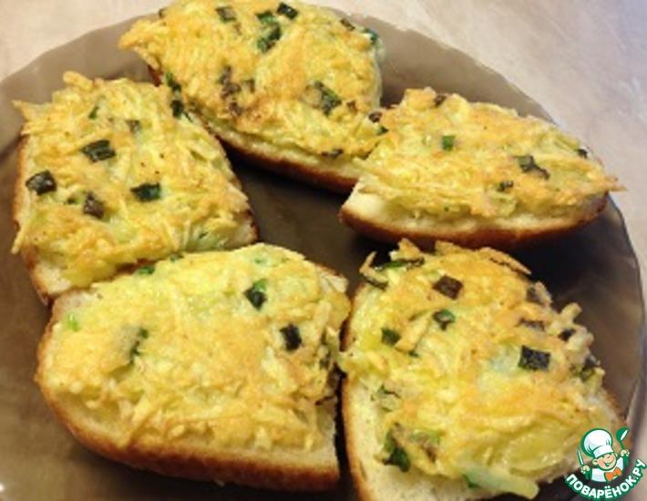 Рецепт: Горячие бутерброды От Галины