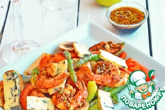 Рецепт: Салат с креветками Вкус заката
