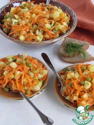 Potato salad with Korean carrot