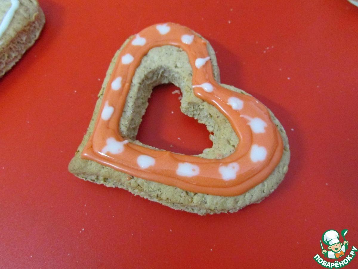 """Овсяное печенье """"Сердечные валентинки"""""""
