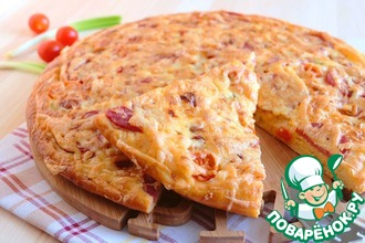 Рецепт: Пирог-пицца Томатная