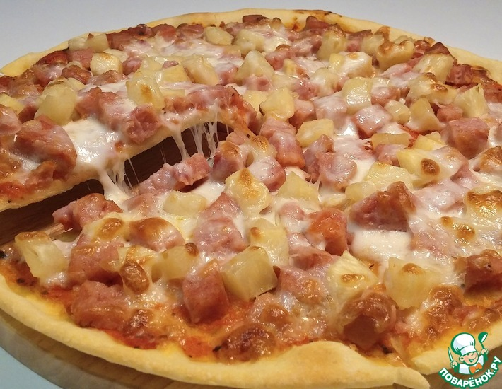Рецепт: Пицца Гавайская