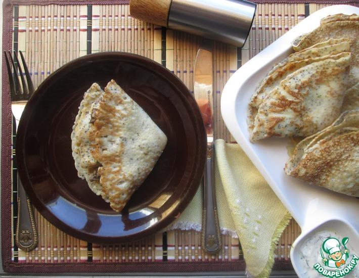 Рецепт: Венгерские маковые блины с куриной печенью