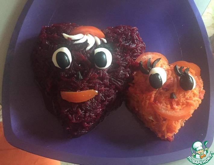 Рецепт: Салат Влюбленные сердца