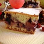 Пирог яблочно-брусничный