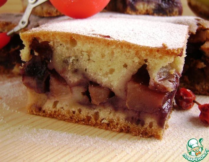 Рецепт: Пирог яблочно-брусничный