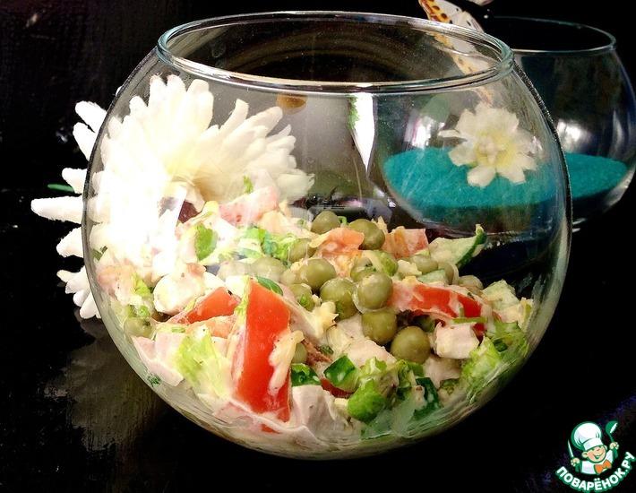 Рецепт: Салат с сырно-горчичной заправкой
