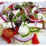 """Салат """"Греческий"""" с оригинальной заправкой – кулинарный рецепт"""