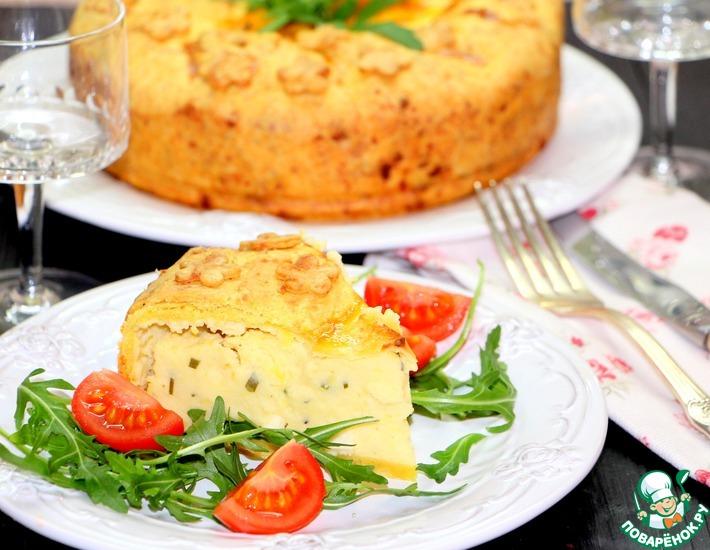 Рецепт: Картофельный пирог с сыром и зеленью