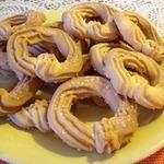 Песочное печенье Сахарные колечки