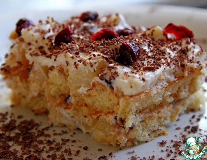 Рецепт: Торт из печенья Савоярди без выпечки