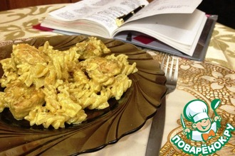 Рецепт: Паста с курицей-карри