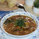 Грибной суп с овсяными хлопьями