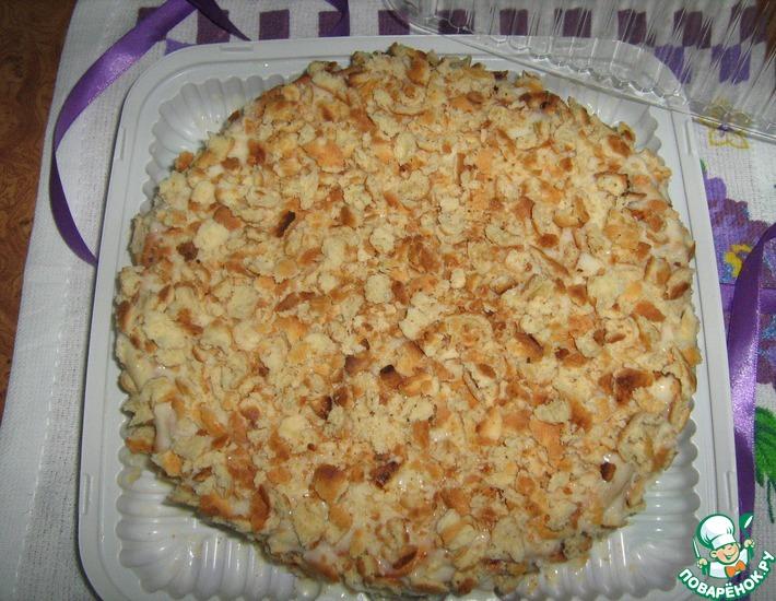 Рецепт: Торт Наполеон творожный