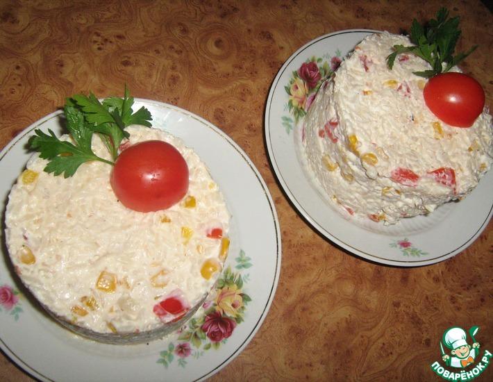Рецепт: Салат Мексика с курицей и рисом