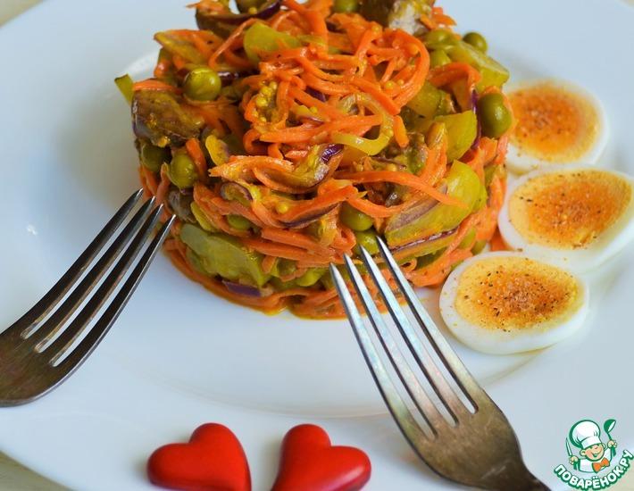 Рецепт: Теплый салат Витаминный