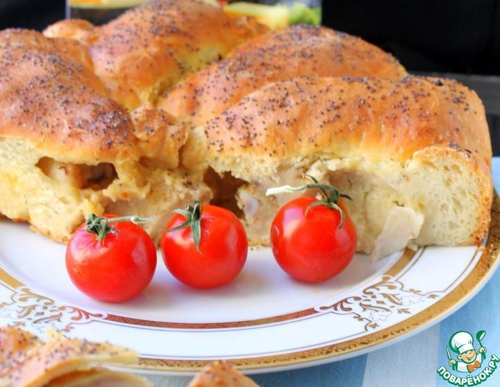 Рецепт: Пирог с куриными ножками