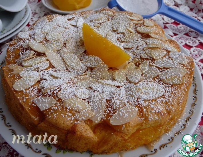 Рецепт: Шарлотка с персиками