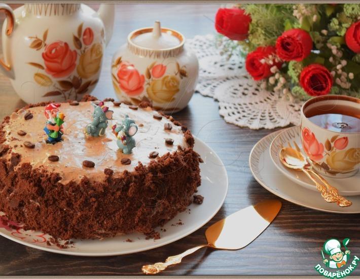Рецепт: Торт Кофейный шоколад