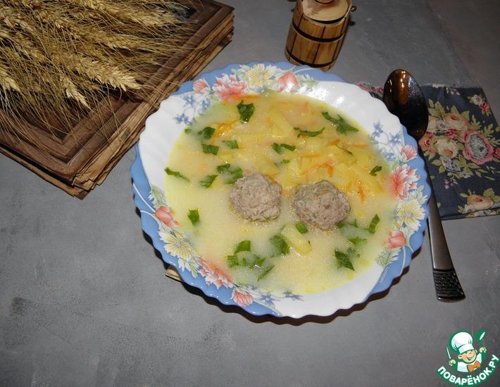 Рецепт: Сырный суп Быстрый обед