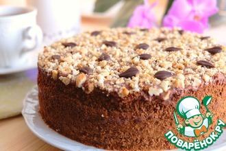 Рецепт: Домашний торт Ореховый