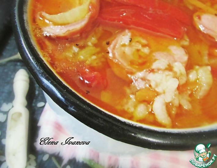 Рецепт: Рисовый суп с лечо