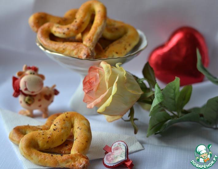 Рецепт: Сердечки из картофельного теста