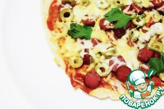 Рецепт: Пицца на сковороде за 5 минут