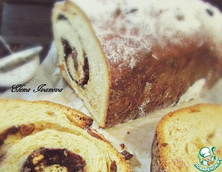 Рецепт: Сладкий хлеб с орехами и шоколадом