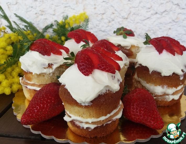 Рецепт: Пирожное Влюбленный маффин