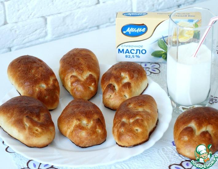 Рецепт: Пирожки с капустой Зайчата